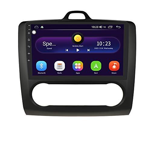 Android 10 Car Radio Stereo con Sistema de Pantalla táctil de 9 Pulgadas para Ford Focus Exi AT 2004-2011, Compatible con navegación GPS Control del Volante WiFi EQ USB Bluetooth (Negro)