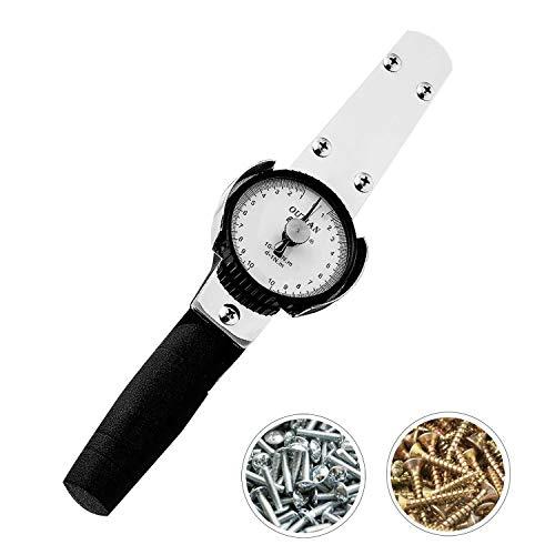 NEWTRY Drehmomentschlüssel Dynamometer Drehmomentmesser Digitaler Zeiger Kraftmessgerät (0.5-5Nm)