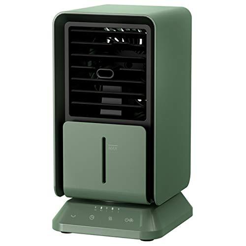 AAADRESSES Aire Acondicionado Enfriador Aire Mini Ventilador, Aire Ccondicionado Portátil, Ventilador Niebla Fría Escritorio 24 V, para Refrigeración Aire Hogar,Verde