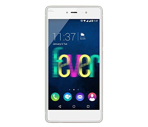 Wiko Fever Smartphone Dual SIM, 16 GB, Bianco/Oro