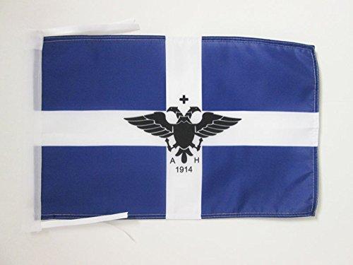 AZ FLAG Flagge GRIECHEN VON ALBANIEN 45x30cm mit Kordel - GRIECHEN Fahne 30 x 45 cm - flaggen Top Qualität