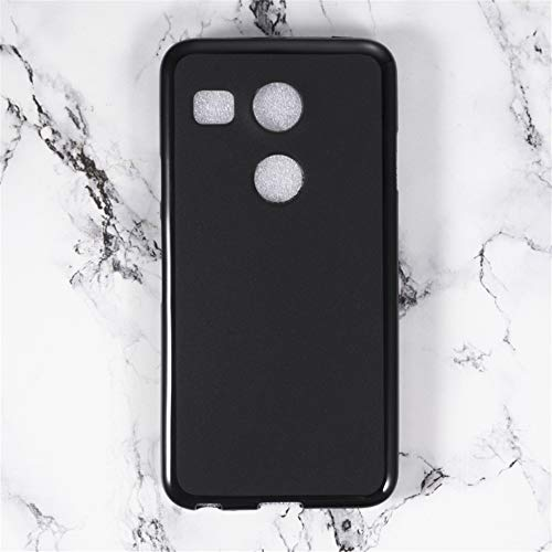Funda para LG Nexus 5X, resistente a los arañazos, carcasa trasera de TPU suave a prueba de golpes, goma de silicona antihuellas, carcasa protectora de cuerpo completo para LG Nexus 5X (negro)