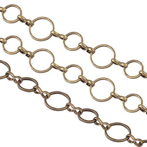 arricraft 10m/32.80 Feet Antique Bronze Chains, Brass Handmade Chains Nickel Free Chains 1 Roll Chains for Necklace Jewelry Accessories DIY Making