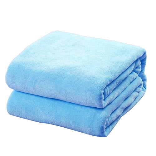 litty089 Wohnzimmer-Tagesdecke, Ornament, weich, einfarbig, warme Decke, Dekoration für Zuhause, Sofa, Teppich, Himmelblau