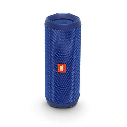 JBL Flip 4 Bluetooth Box in Blau, Wasserdichter, tragbarer Lautsprecher mit Freisprechfunktion & Alexa-Integration, Bis zu 12 Stunden Wireless Streaming mit nur einer Akku-Ladung