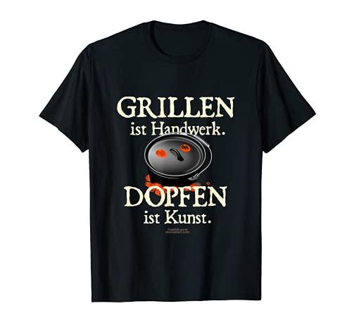 Horno holandés para asar a la parrilla es artesanal, el vapor es un horno holandés de arte. Camiseta