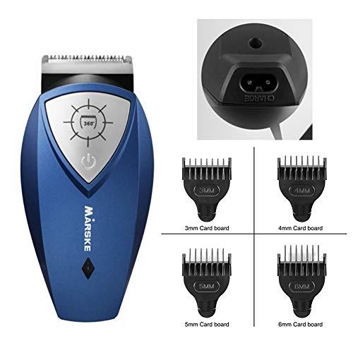 BEIAKE Tondeuse Rechargeable À 360 Degrés De Rotation Coupe De Libre-Service Coupe De Cheveux Tondeuse À Cheveux Beard USB Rechargeable pour Les Hommes Adultes