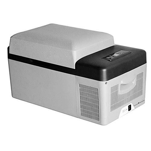 HO-TBO Autokühlschrank, 20 Liter-bewegliches Getränk Kühlraum-Auto Mini-Kühlschrank AC- oder DC-Powered Cooler Food Drinks Wine Travel Picnics Kleinst Kühlschrank Weiß Sehr praktisch für Reisen