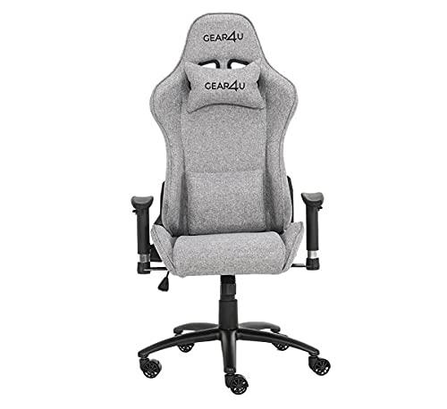 Gear4U Elite Fabric Gaming Stuhl grau - G4U-Elite-FAB-Grey
