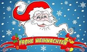 UB Fahne/Flagge Frohe Weihnachten VII Weihnachtsfahne 90 cm x 150 cm Neuware!!!