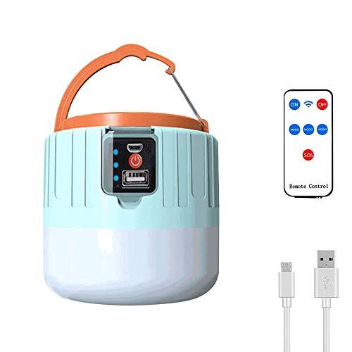 Eamplest LED Campinglampe USB Wiederaufladbare IPX6 Wasserdicht, 5 Modi Fernbeleuchtung Solar Lampe, Batterie mit Großer Kapazität Power Bank, SOS Tragbar Camping Lampe Zeltlampe, Superhell, Dauerhaft