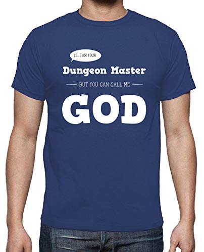 tostadora - T-Shirt Dungeon Master - Uomo Blu Reale L