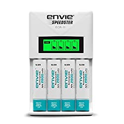 Envie 2800mah 4nos rechargable battery with ECR11 Speedster charger,IMS Mercantiles Pvt. Ltd.,ECR11-2800X4PL