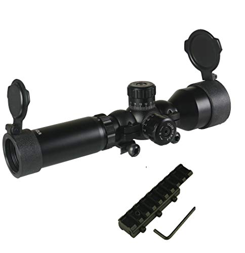 TWP 3-9x42 Wide Angle Long Eye Relief Scout Scope Rings and Combo with 3/8 Dovertail to Weaver Adapter Rear Sight Mount
