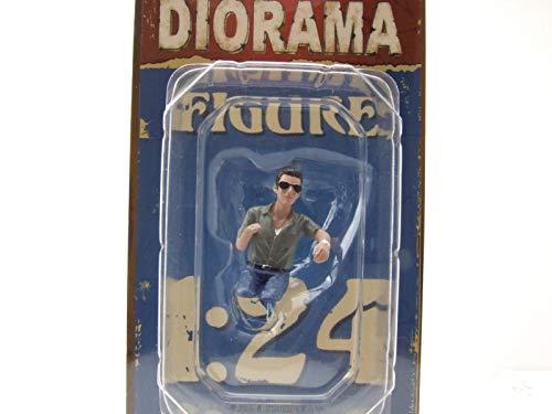 American Diorama Fahrer Figur Mann mit Sonnenbrille sitzend für 1:24 Modelle