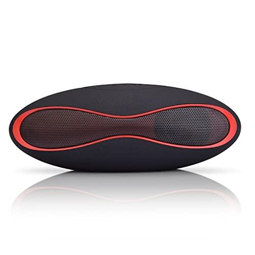 RYSF Mini Stereo Drahtloser Bluetooth-Lautsprecher Tragbares 3D-Soundsystem Musiklautsprecher TF Super Bass Column Acoustic System Surrounding (Color : Black)