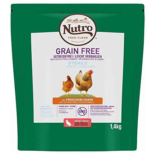 Nutro Grain Free gato esterilizado pollo 1,4 kg 🔥