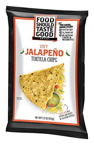 Food Should Taste Good, Tortilla Chips, Jalapeno, Gluten Free Chips, 5.5 Ounce