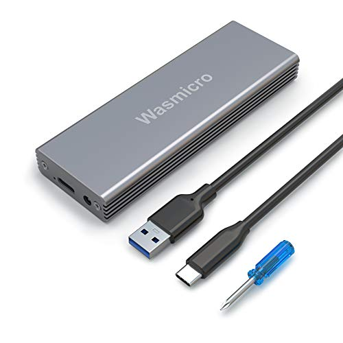 Wasmicro SSD Enclosure USB C & 3.0 Portable Case Hard Drive Adapter Box for MacBook Air Mid 2013-2017, MacBook Pro Late 2013 - Mid 2015, iMac Late 2013-2017, 2013 Mac Pro, 2014 Mac Mini SSD