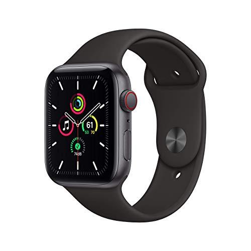 AppleWatch SE (GPS+Cellular, 44mm) Cassa in alluminio grigio siderale con Cinturino Sport nero