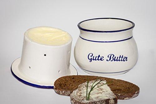 NUR NOCH GERINGE ANZAHL VERFÜGBAR! Omas Butterfässchen dunkelblau - IMMER frische und streichzarte Butter!