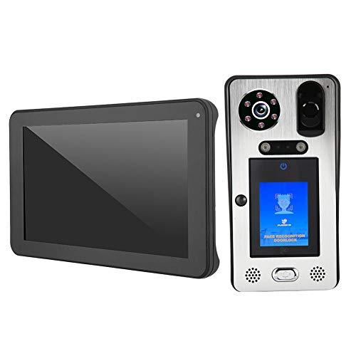 Qinlorgon Videoportero, Timbre Video de 100-240V WiFi, 1080P HD para el Chalet de Las oficinas de los hogares de los hoteles(European regulations)