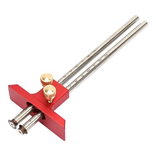 Herramienta de marcado de madera, fácil de operar para el trazador de carpintería, con escala clara de alta resistencia para la regla de trazador de carpintero