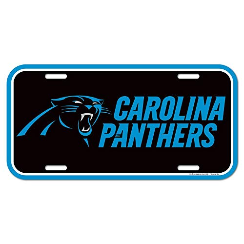 WinCraft NFL Team License Plate Carolina Panthers