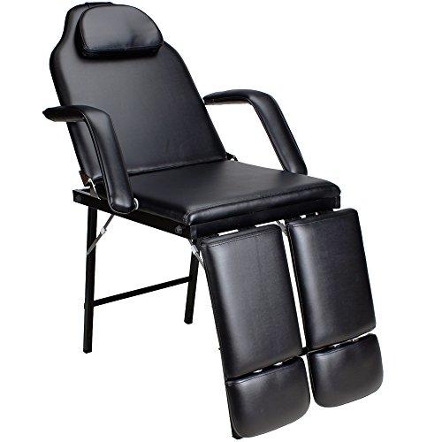125261d Klappberer Mechanischer Tattoostuhl Fußpflegestuhl schwarz