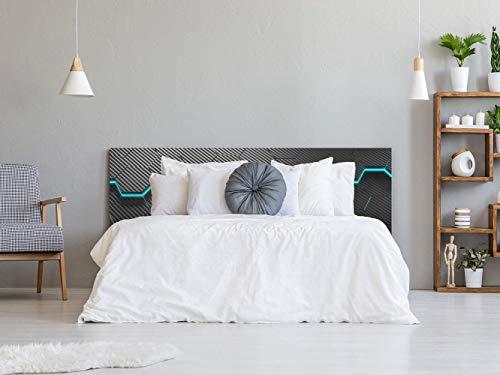 Kopfteil Bett Pegasus Futuristisches Schwarz   Verschiedene Maße 100x60cm   Einfache Platzierung   Raumdekoration   Landschaftsmotive   Natur   Urbes   Multicolor   Elegantes Design