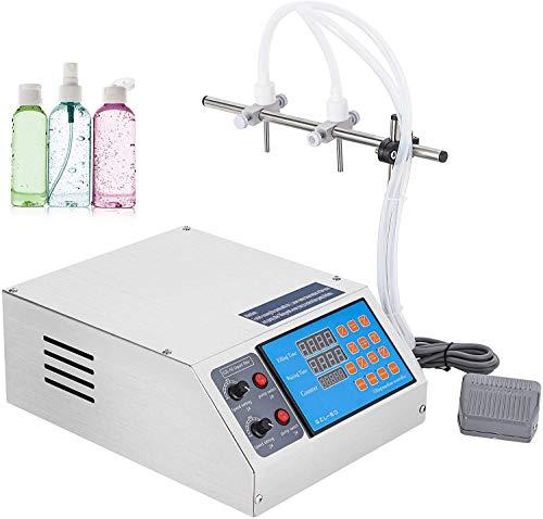 Hanchen Liquid Filling Machine Electric Digital Control Filler Pump 3-4000ml Bottle Filler for MCT Oil, Milk, Beverage, Water, Juice, Essential Oil with 2 Heads110v