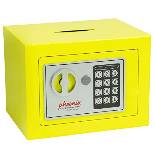 Caja fuerte amarilla de acero
