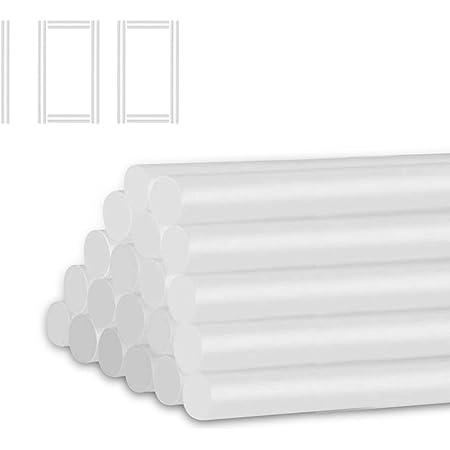 Anesty グルースティック 透明 100本入 グルーガン用 強力粘着 7mm*14.7mm臭いなし ホットボンドガン/グルーガン/ピタガン通用 柔軟性 大容量