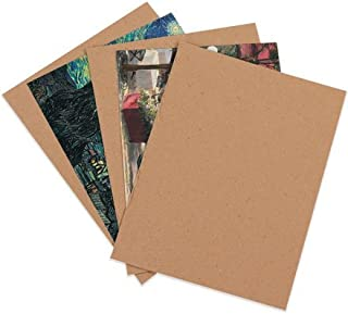 100 8.5x11 Chipboard Cardboard Craft Scrapbook Material Scrapbooking Packaging Sheets Shipping Pads Inserts 8 1/2 inch x 11 inch Chip Board By The Boxery