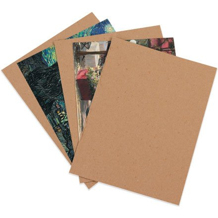 200 5x7 Chipboard Cardboard Craft Scrapbook Material Scrapbooking Packaging Sheets Shipping Pads Inserts 5 inch x 7 inch Chip Board By The Boxery