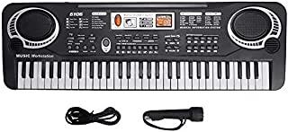 Electric Keyboard Piano 61-Key, Piano Keyboard 61 Key Electric Digital Music Keyboard Portable Electronic Musical Instrume...