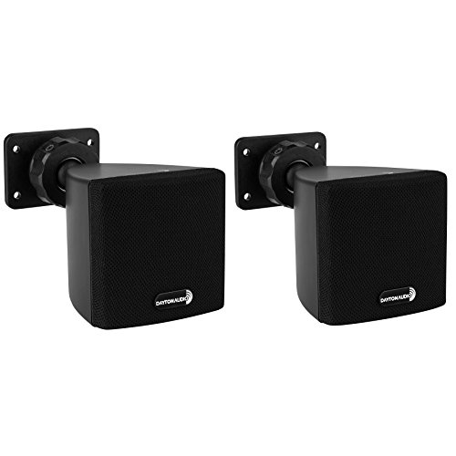 "Dayton Audio SAT3B 3"" Cube Speaker Pair Black"