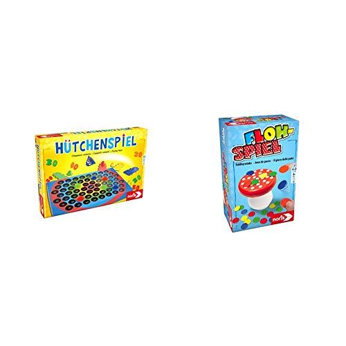 Noris 606049102 606049102-Hütchenspiel, Kinderspiel & 606144010 606144010-Flohspiel, Kinderspiel