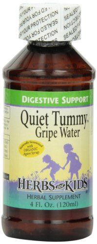 Herbs for Kids Quiet Tummy Gripe Water, 4 Ounce