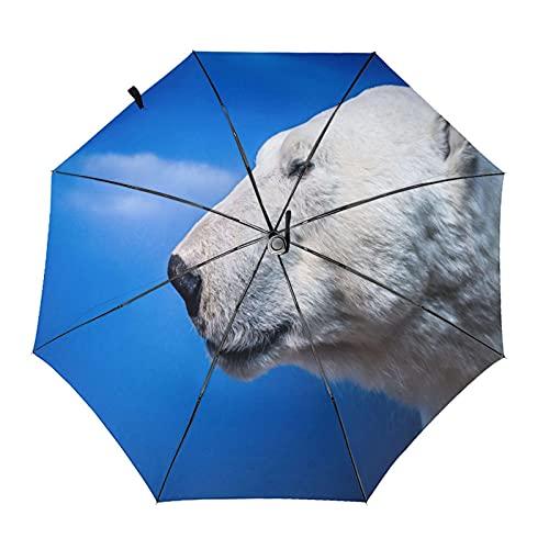 Paraguas plegable de la cabeza de los osos polares del viaje del...