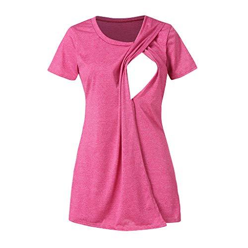 Lenfesh Koszulka do karmienia piersią, tunika, top, bluzka, moda ciążowa, koszulka ciążowa, ubranie ciążowe, koszulka ciążowa z krótkim rękawem