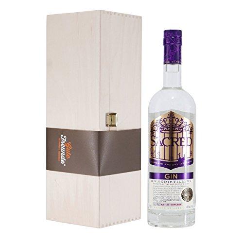 Sacred London Dry Gin 43,8 mit Geschenk-Holzkiste