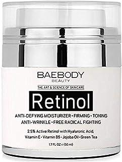 Baebody Retinol Moisturizer Cream for Face and Eye Area - With 2.5% Active Retinol, Hyaluronic Acid, Vitamin E. Anti Aging...