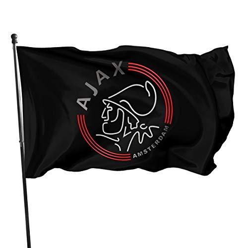 N / A AFC Ajax Amsterdam Club Bandera Bandera Bandera Banner Poliéster Material Jardín Balkon Decoración al aire libre 90 x 150 cm