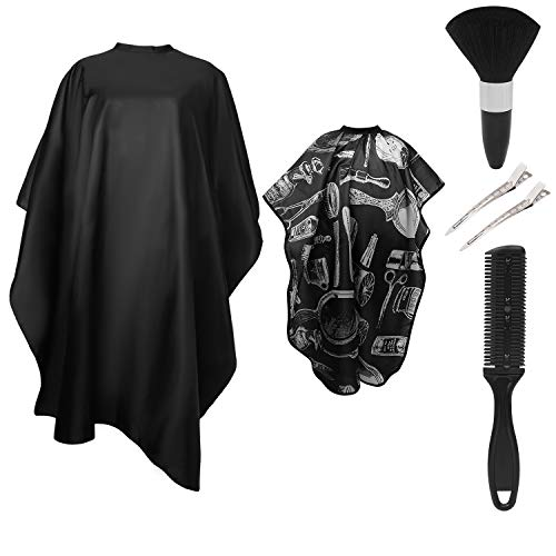 Yullmu Hair Cutting Capes Hairdressing Cape Cloth Beard Shaving Apron Salon Barber Gown Cape Neck Duster kits for Adult Kid (#2 5pcs)