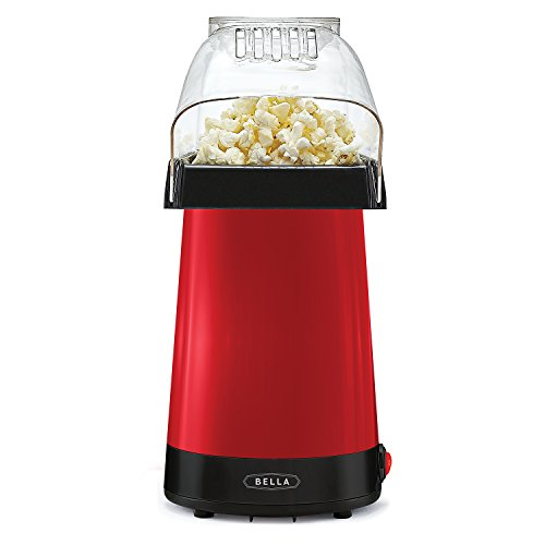 BELLA 14604 Hot Air Popcorn Popper Maker, Red,