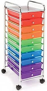 Seville Classics Multi-Color 10-Drawer Organizer Cart,