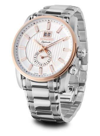 Duward Reloj Hombre en Acero con Esfera Blanca, Relieve Dorado 10ATM.D95707.81