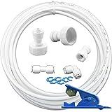 Filtrotech Side by SideAS6K-10– Juego de conexión universal para entrada de agua para frigorífico, tubo de agua de 6,4mm (1/4 pulgadas)