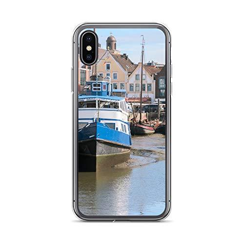 blitzversand Handyhülle NORDSEE WATT kompatibel für Huawei G8 Mini Langeoog Hafen Schiff Kutter Schutz Hülle Case Bumper transparent rund um Schutz M2